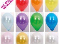 Ballon Latex Métallisé 25 cm / Paquet de 25 Pièces
