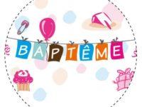 Étiquette Baptême